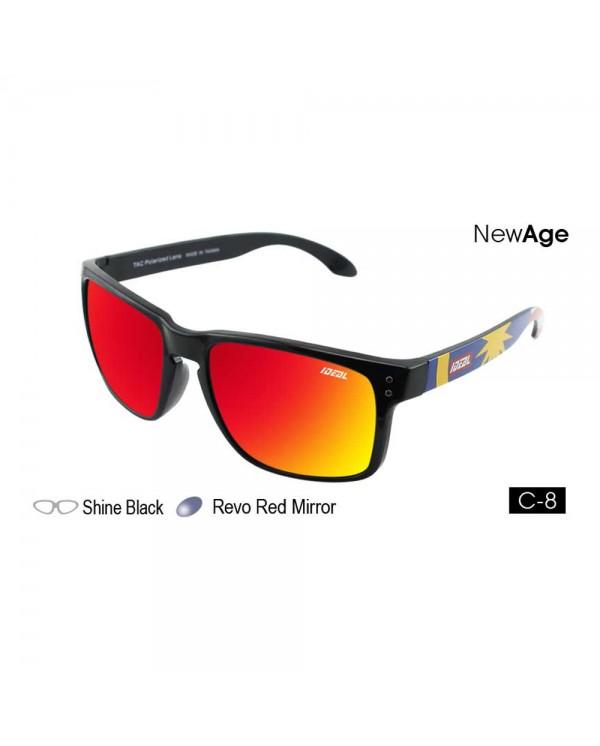 4GL Ideal 288-9011 New Age Polarized Sunglasses UV400 Jalur Gemilang Cemin Mata