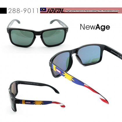 4GL Ideal 288-9011 Polarized Sunglasses New Age UV400 Jalur Gemilang Cemin Mata