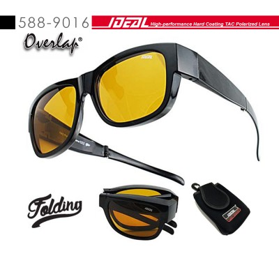 4GL IDEAL 588-9016 Overlap Folding Polarized Sunglasses UV400 Cemin Mata Lipat