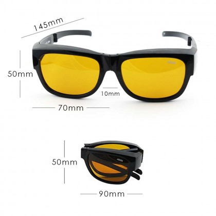 4GL Ideal 588-9016 Polarized Sunglasses Overlap Folding UV400 Cemin Mata Lipat