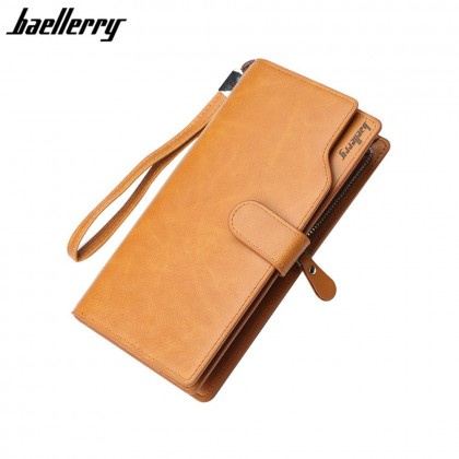4GL Baellerry S172B Long Wallet Men Women Coin Zipper Purse Dompet