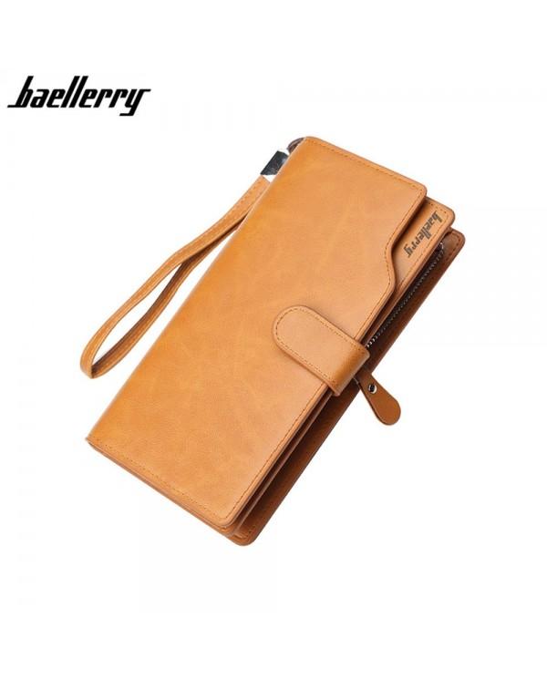 4GL Baellerry S172B Men Women Long Coin Zipper Purse Wallet Dompet