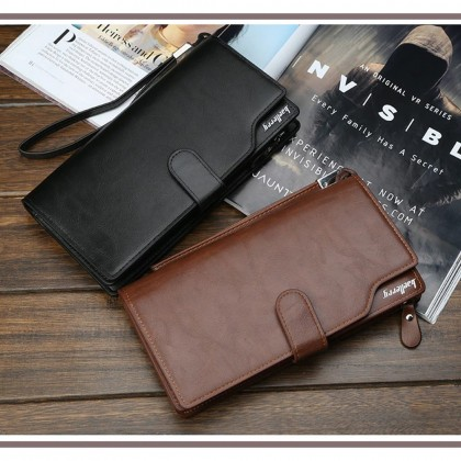 4GL Baellerry S172B Men Women Long Coin Zipper Purse Wallet Dompet