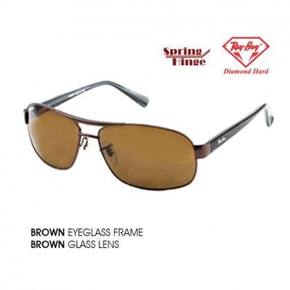 4GL ReyBoy W3387 Glass Lens Sunglasses UV400 Lens Kaca Cermin Mata