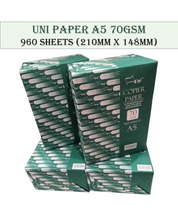 4GL Uni Paper A5 Size 210mm x 148mm 70GSM 960 Sheets