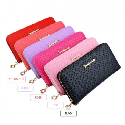 4GL Yuqifashion W-87 Women Zip Long Purse Dompet
