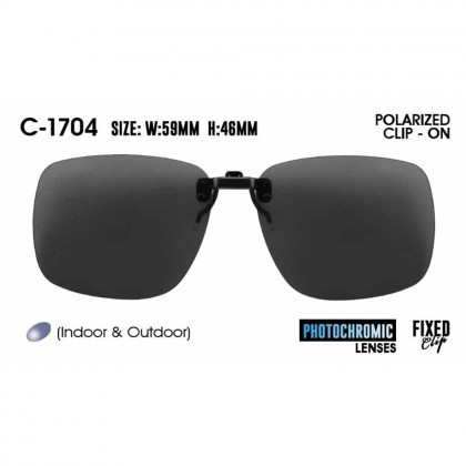 4GL IDEAL C-1704 Polarized Clip On Photochromic Lens