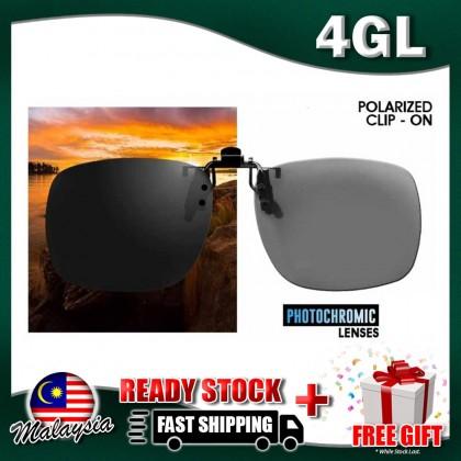 4GL IDEAL Polarized Clip On Photochromic Lenses Sunglasses