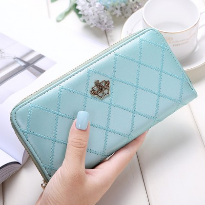 4GL Crown Design F436 Women Zip Long Purse Dompet Beg