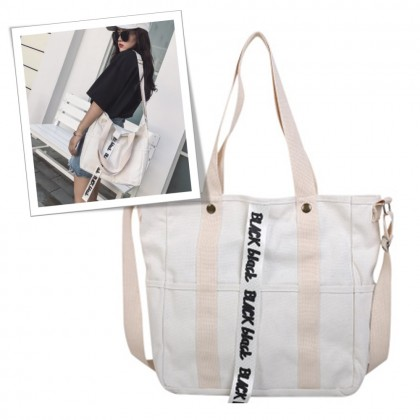 4GL Black Black Tote Bag A0620 Women Korean Fashion Beg