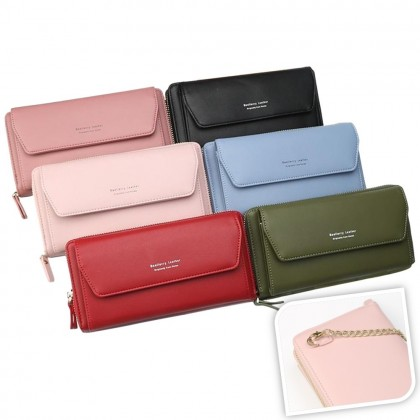 4GL Baellerry N5509 Women Fashion Leather Long Purse Wallet Dompet