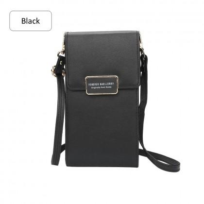 4GL Baellerry N5190 Long Purse Woman Fashion Leather Multi Purse Wallet Cross Body Sling Bag