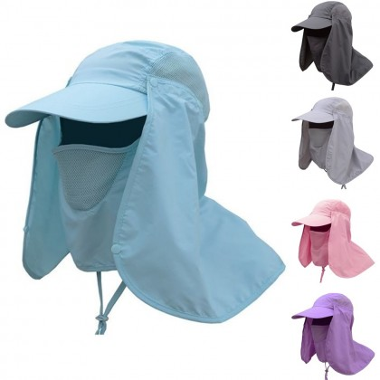 4GL Outdoor Sport UV Sun Protection Face Neck Cover Fishing Hiking Cap Hat G0525