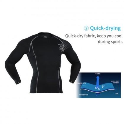4GL Men Gym Compression Fitness Tights Sport T Shirt M-3XL