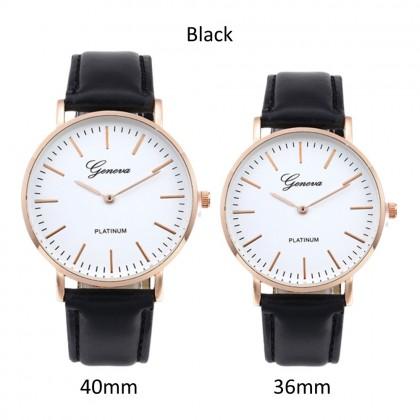 4GL Geneva Fashion Leather Watches Men Women Unisex Watch Jam Tangan