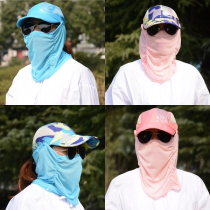 4GL Outdoor Sport UV Sun Protection Face Neck Cover Fishing Hiking Cap Hat G0527