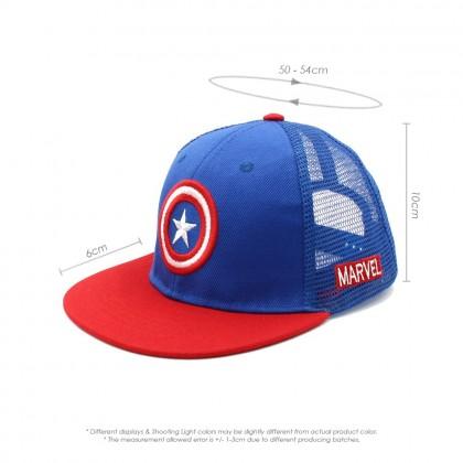 4GL Kids Cap Captain America Caps Marvel Cartoon Sun Mesh Cap Topi Budak G0404