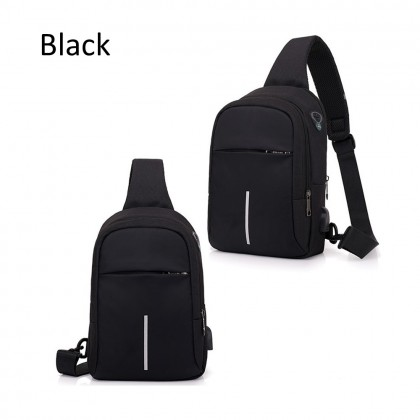 4GL 541 1Line Men Woman Unisex Fashion USB Crossbody Sling Bag Chest Bag A0707