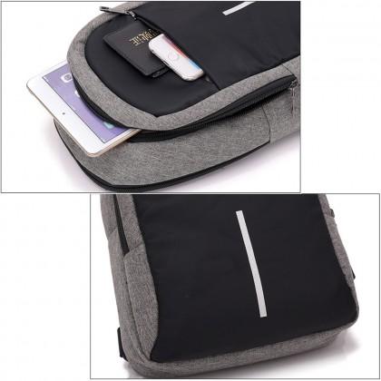 4GL 541 1Line Men Woman Unisex Fashion USB Crossbody Sling Bag Chest Bag A0707