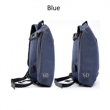 4GL 8019 Crossbody XD Men Woman Unisex Fashion USB Sling Bag Chest Bag