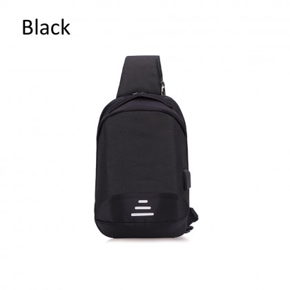 4GL 108 3Lines Men Woman Unisex Fashion USB Crossbody Sling Bag Chest Bag A0711