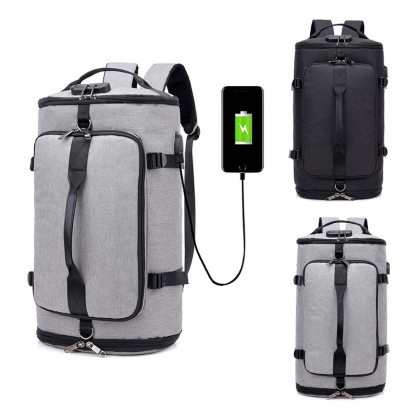 4GL 1711 Sport Backpack Fashion USB Multi Purpose Large Capacity Outdoor Hiking Travel Bag A0712
