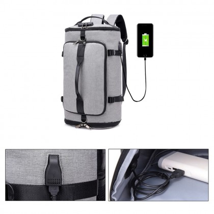 4GL 1711 Backpack Bag Pack Anti Theft Thief USB Laptop Bag Luggage Bag Beg