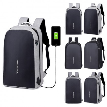 4GL DXYZ Backpack Anti Theft Thief USB School Bag Beg Sekolah Laptop Bag Beg