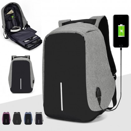 4GL 1Line Fashion USB Multi Purpose  Large Capacity Outdoor Sport Travel Backpack Bag A0714