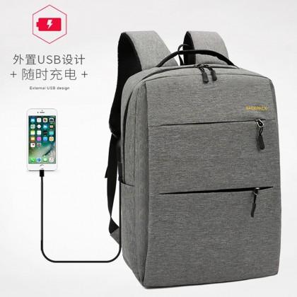 4GL Plain 3 In 1 Backpack Bag Pack USB School Bag Beg Sekolah Bag Sekolah Laptop Bag