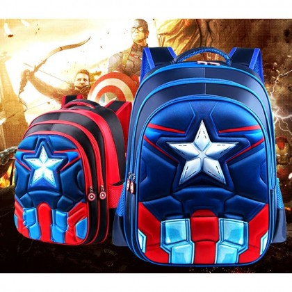 4GL 3D Superhero Big Size 42cm Backpack Bag Pack School Bag Beg Sekolah Bag Sekolah