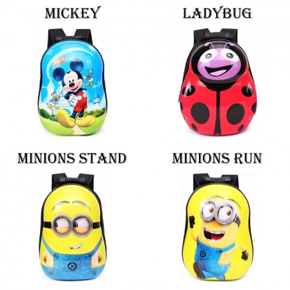 4GL Kids Eggshell Backpack Cartoon School Bag Beg A0906