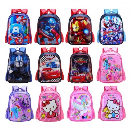 4GL Kids Cartoon PU Backpack Bag Pack School Bag Beg Sekolah Bag Sekolah A0908
