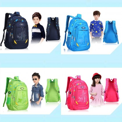 4GL HP Plain Logo Backpack Bag Pack School Bag Beg Sekolah Bag Sekolah