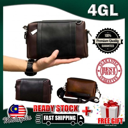 4GL Men Clutch 80304 Leather Crossbody Sling Bag Beg A0158