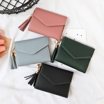 4GL 8602 Envelope Short Purse Women Purse Wallet Dompet Bag Beg A0417