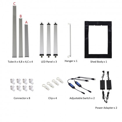 4GL Tianrui Cupboard Photo Studio 70cm x 60cm x 100cm 3 LED Adjustable Light Box L0111