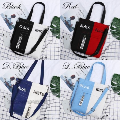4GL Dual Colour Sling Bag Women Bag Tote Bag Crossbody Bag Handbag Beg A0626