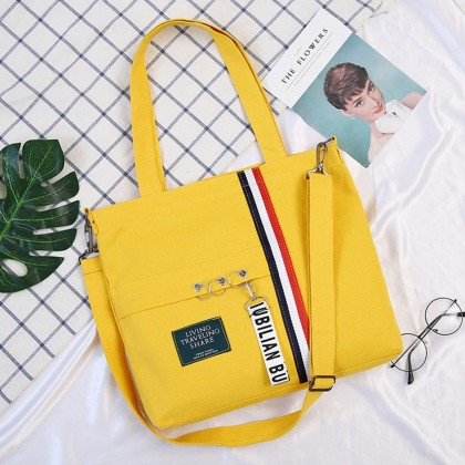 4GL Tri Colour Lines Sling Bag Women Bag Tote Bag Crossbody Bag Handbag Beg A0628