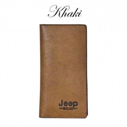 4GL Jeep Buluo 8068 Long Wallet Men Wallet Leather Purse Dompet Beg A0159