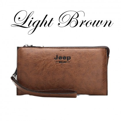 4GL Jeep Buluo 1619 Long Wallet Men Wallet Leather Clutch Purse Dompet Beg A0160