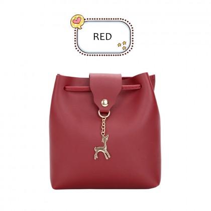 4GL Deer Sling Bag Cute Fashion Mini Shoulder Handbag Beg Tangan A0630