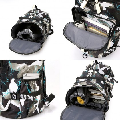 4GL Floral Backpack Bag Pack 3 Way Use Travel Duffle Bag Sling Bag Luggage Bag Beg