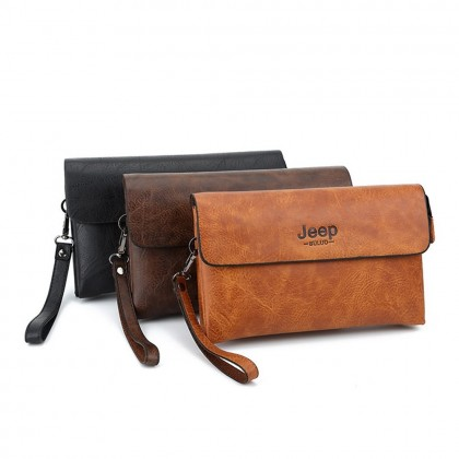 4GL Jeep Buluo 1717 Long Wallet Men Wallet Leather Clutch Purse Dompet Beg A0161
