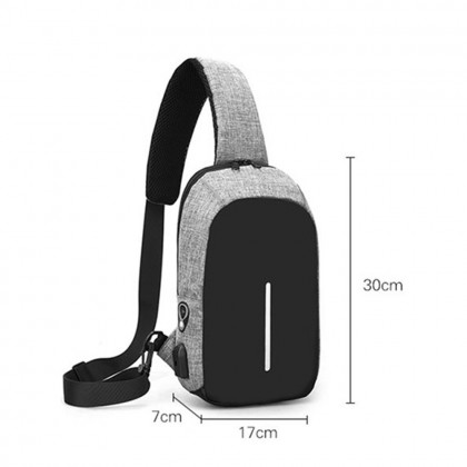 4GL NEW ONE LINE Crossbody Men Bag USB Anti Theft Thief Bag Sling Bag Chest Bag Beg A0812