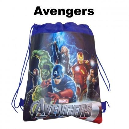 4GL Cartoon Drawstring Backpack Bag Pack School Bag Beg Sekolah Bag Sekolah Sling Bag