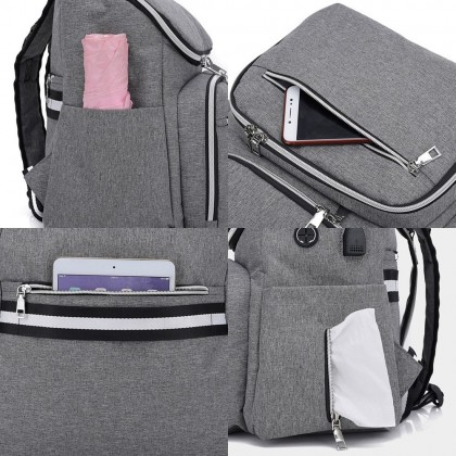 4GL 2 IN 1 Diaper Bag Large Capacity Backpack Bag Beg A0717