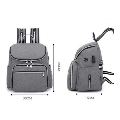 4GL 2 IN 1 Diaper Bag Large Capacity Backpack Bag Beg A0717
