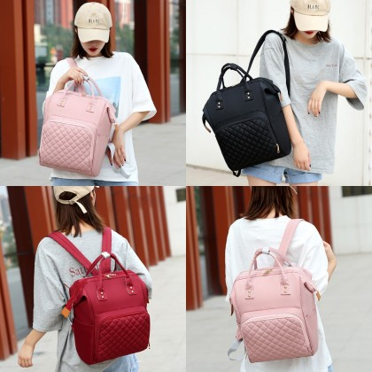 4GL Plain Colour Diaper Bag Large Capacity Backpack Bag Beg A0718