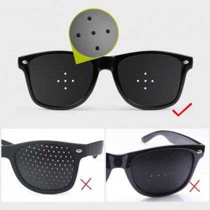 4GL Pinhole Glasses Anti Fatigue Eyesight Care Vision Improve Spectacles